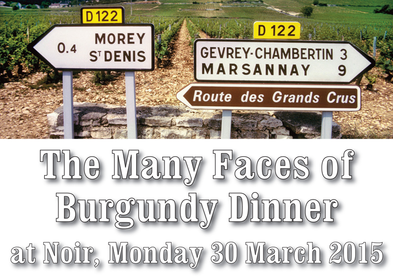 Many Faces of Burgundy Dinner