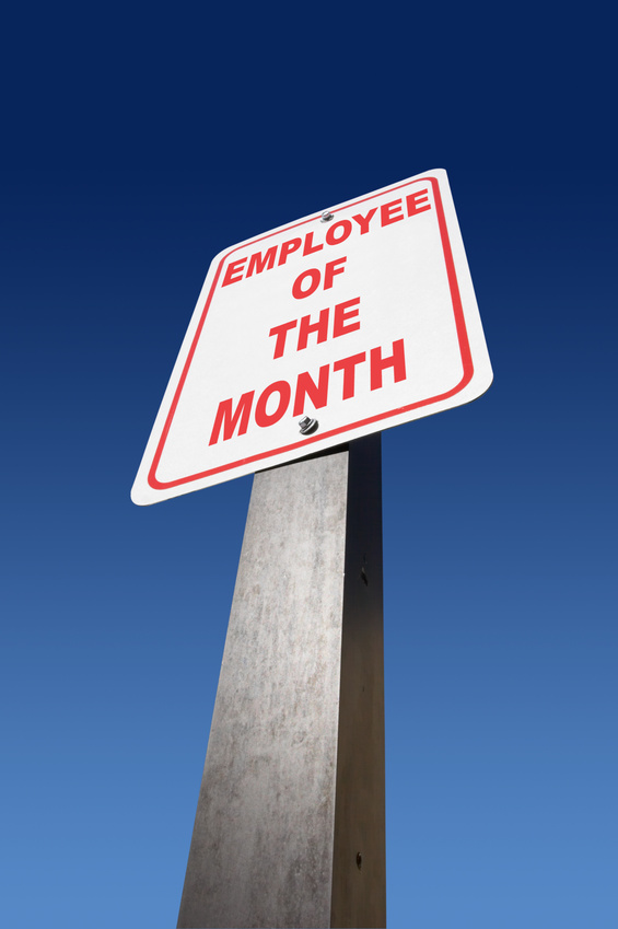 Employee of month sign