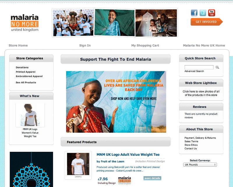 CampaignShops Malaria No More