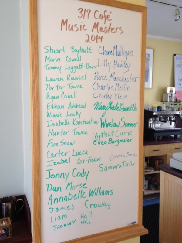 Visit the 317 Cafe to see our current list of Music Masters.