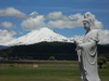 Kannon Bosatsu overlooks Mt Adams