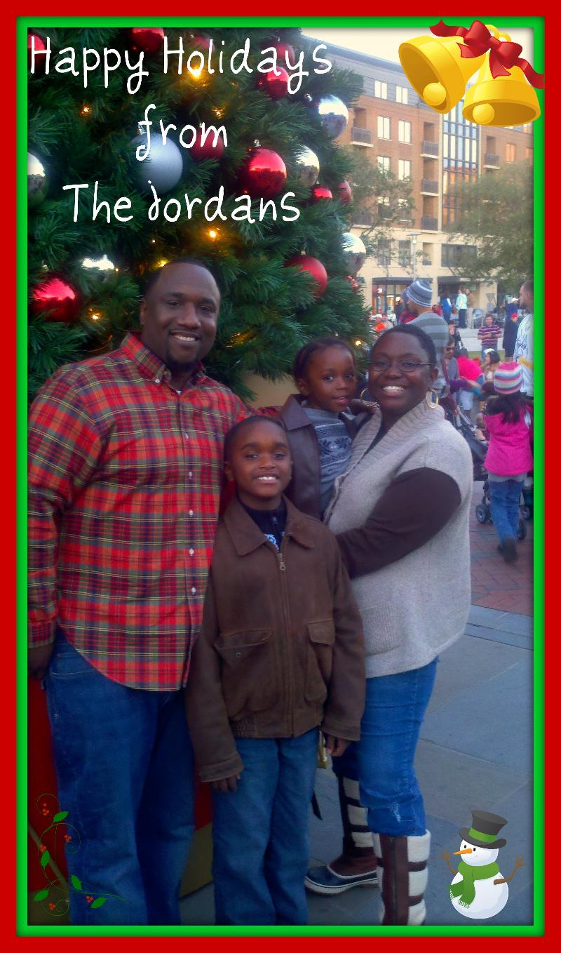 The Jordans at Ellis Square Tree Lighting