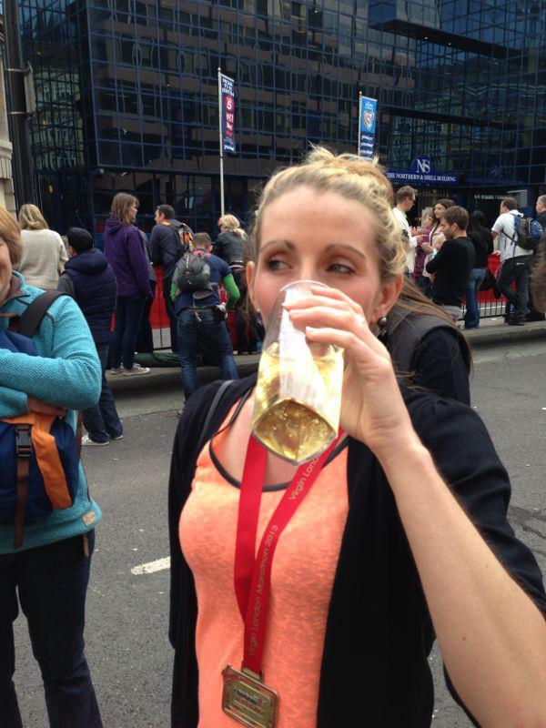Gemma after marathon