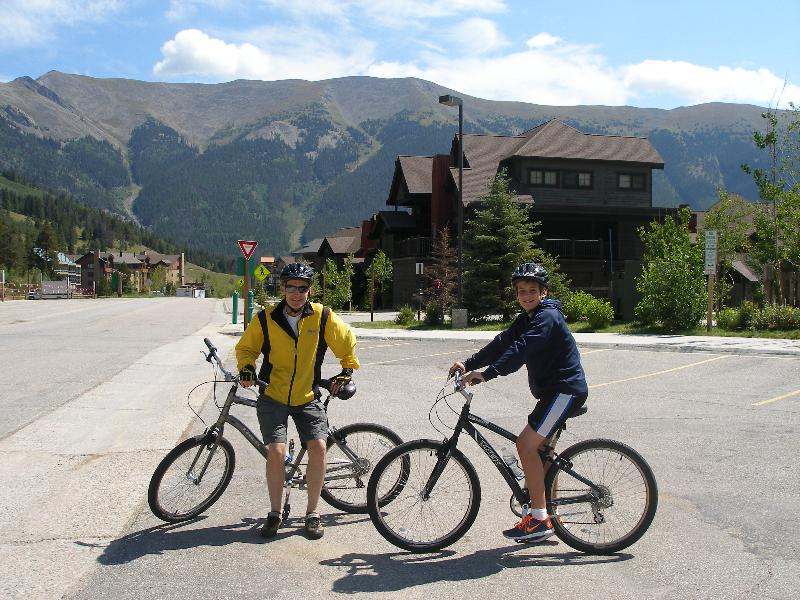 Biking Vail pass