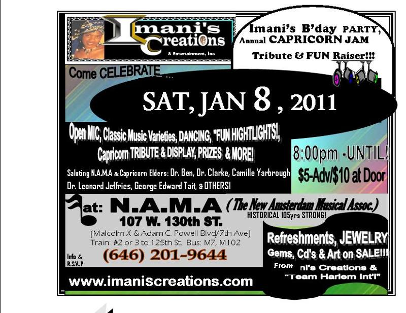 FLYER- 2011 Imani's B'Day Party