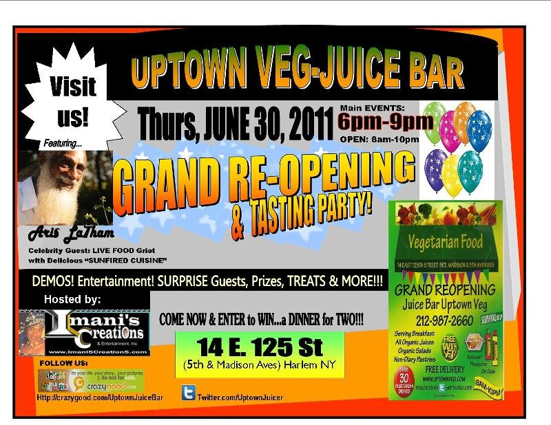 Flyer- UPTOWN Veg- JUICE BAR- correct