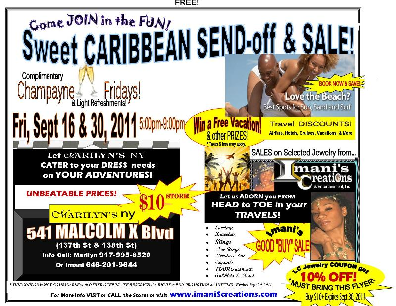 FLYER- I.C -Caribbean Send off @  Marilyn's- 3