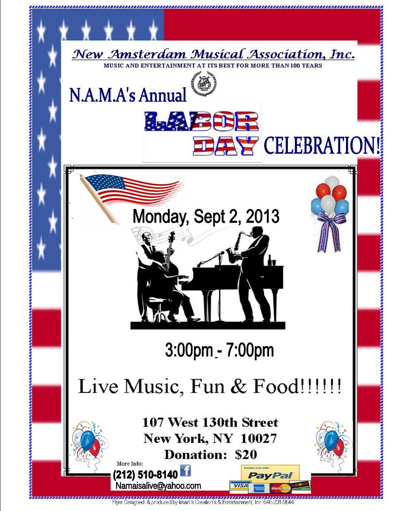 FLYER- NAMA- LABOR DAY EVENT-2013