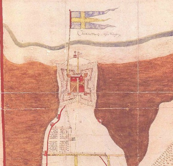 Map of Fort Christina