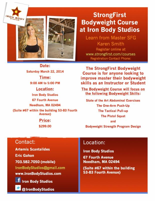 StrongFirst Bodyweight Course at Iron Body Studios