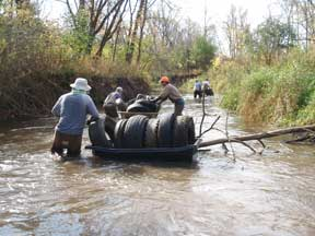 Trimbelle River Tire Removal 2