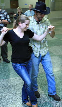 Students at recent Intro to Partner Dance Class