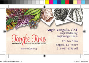 Angie Vangalis - Business Card Layout