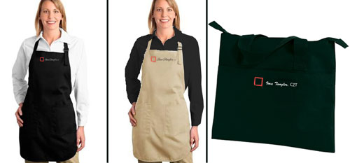 CZT aprons and bags