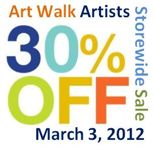 Art Walk Sale
