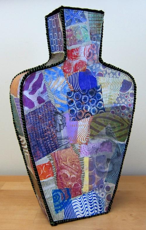 gelli plates textile art