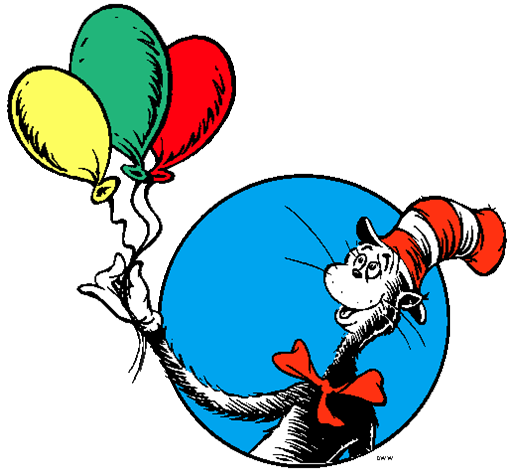 Cat in the Hat with Balloons
