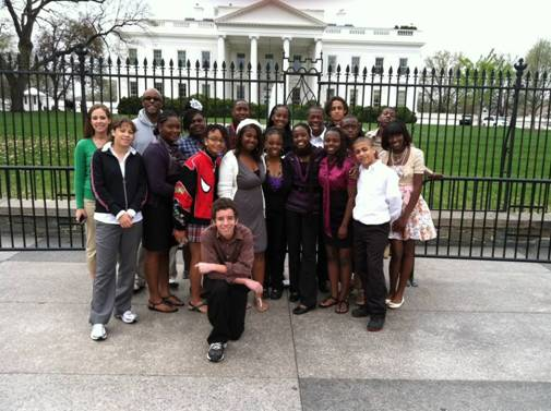 AP Students in front of the White House