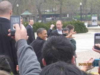 President Obama at Lincoln Memorial