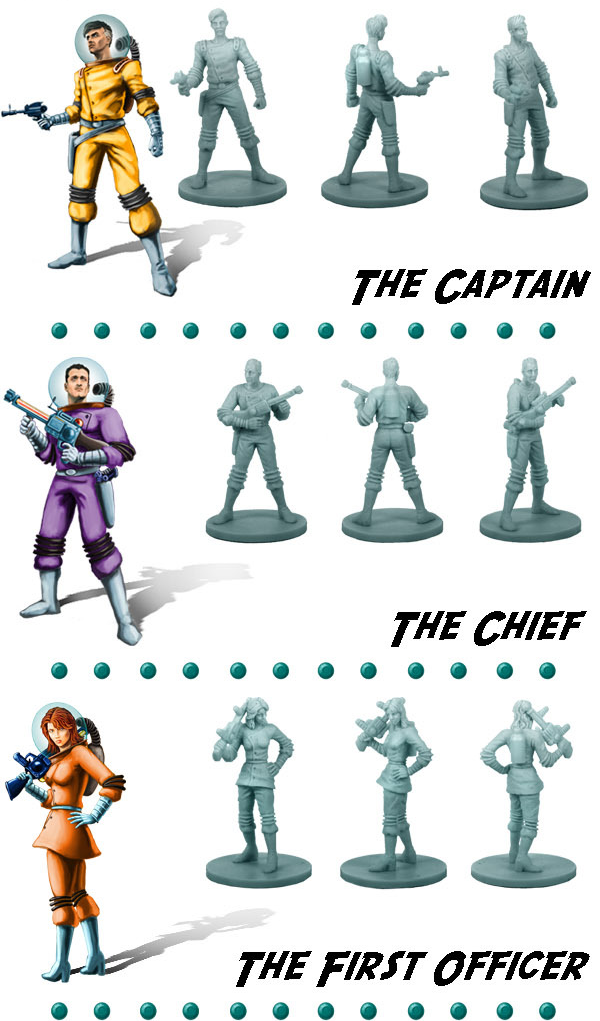 Space Cadets: Away Missions  -- Rocketeers: Illustration and Plastic Miniatures (1 of 2)