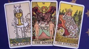 row of tarot cards
