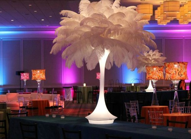 Sustainable Centerpieces - Cabaret table lamps