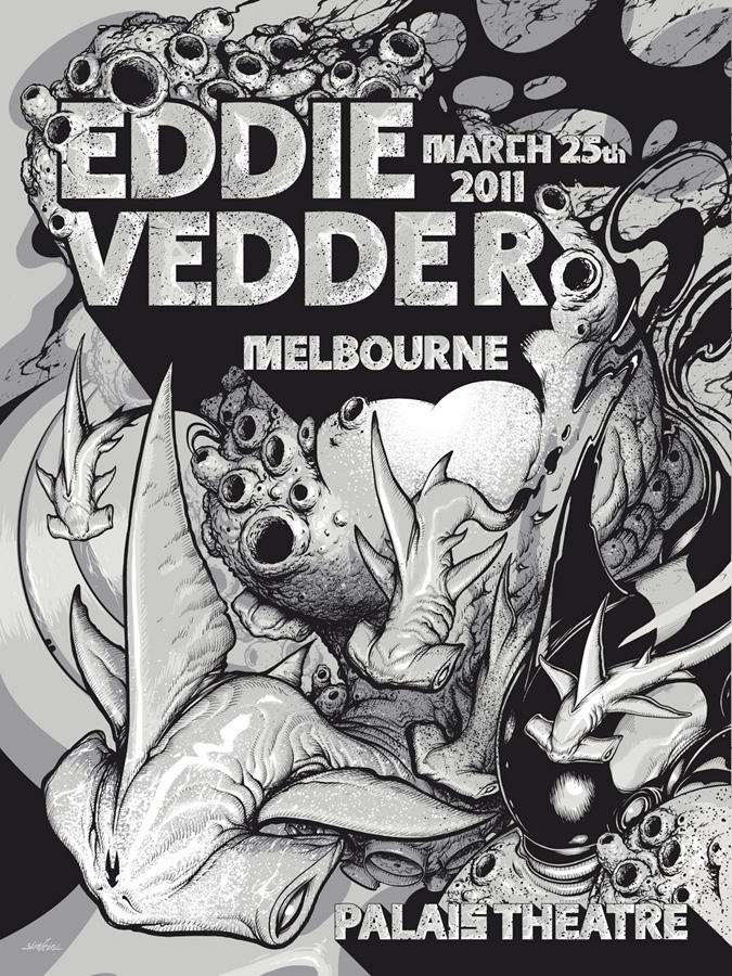"""""""EDDIE VEDDER"""" MELBOURNE POSTER"""