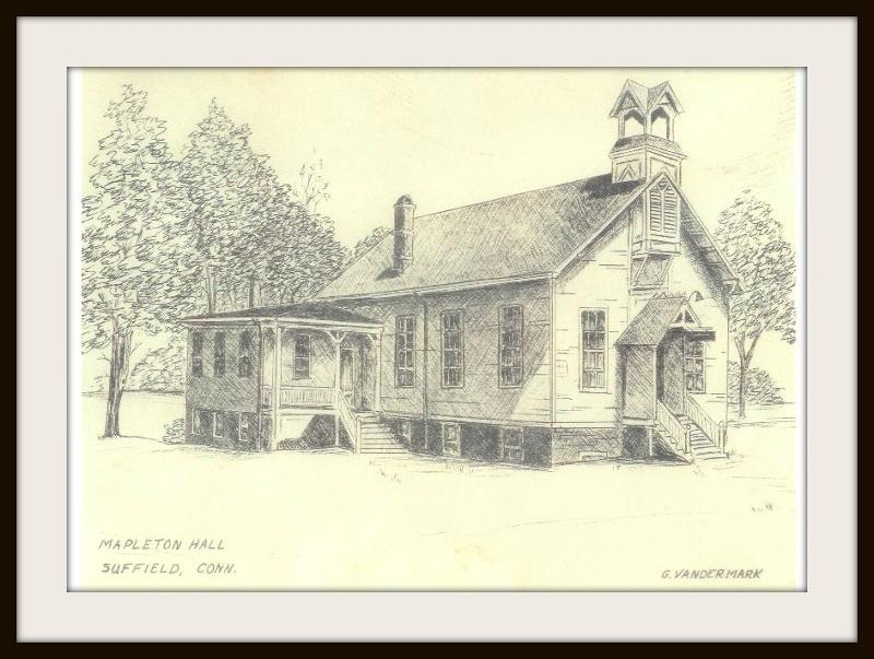 Drawing of Mapleton Hall