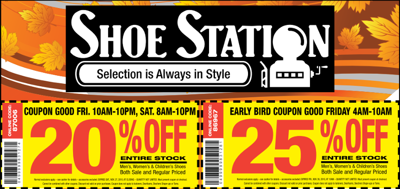 25 Off Printable Shoe Station Coupon Inside Good Until 10 Am Cst