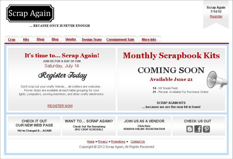 Scrap Again Website