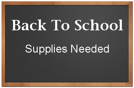 Back To School... Supplies Needed Chalk Board