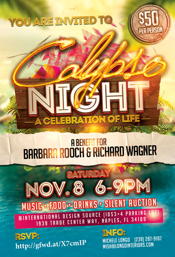 Please Join Us For Calypso Night A Celebration Of Life A Benefit For