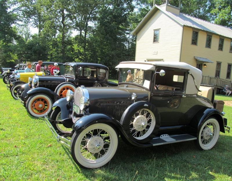 Antique cars fill Rugby at the 2012 show