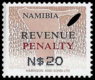 Namibia Penalty $20