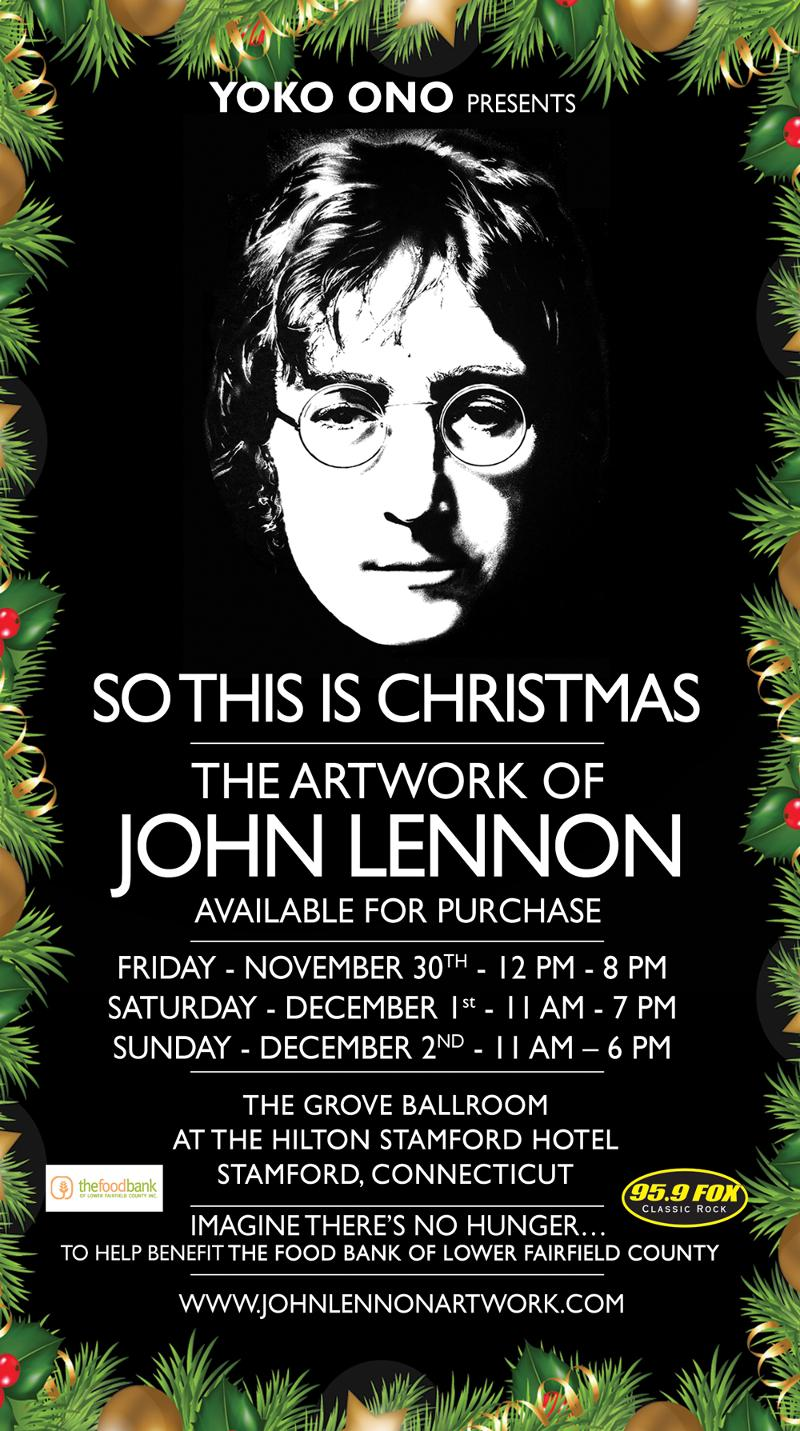 Artwork of John Lennon in Connecticut - This Weekend Only!