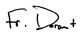 Fr. Doran's signature