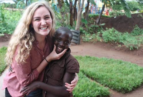 Hillary and Rosine in Rwanda