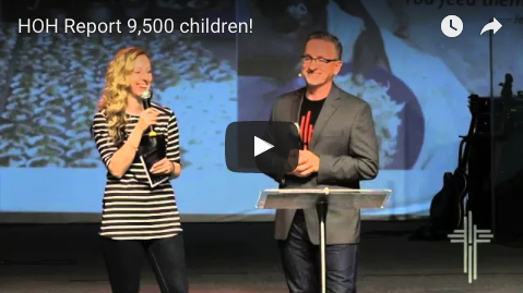 Video of Brian & Karissa - 9,500 kids!