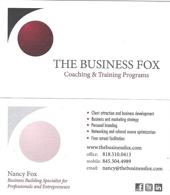 business fox business card