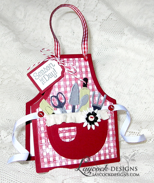 Our Daily Bread Designs Exclusive Apron and Tools Die, Baking Tag Sentiments, ODBD Recipe Card and Tags Die, Ginigham Backgound
