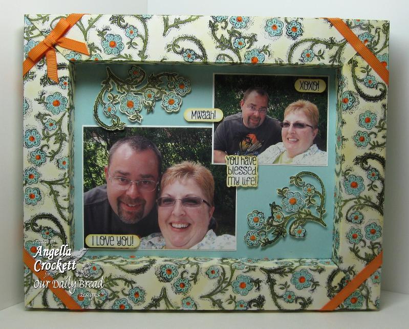 "ODBD ""Be Joyful"", Flower Soft ""Scrap It Frame It"" Designer Angie Crockett"