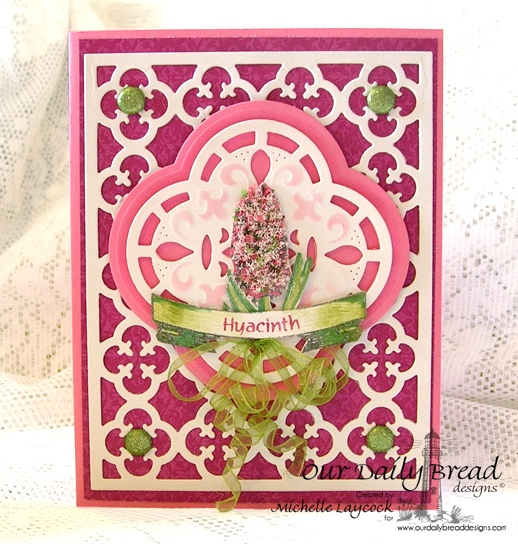 Our Daily Bread Designs April 2013 Release ODBD Exclusive Quatrefoil Pattern Die, Quatrefoil Design Die, Hyacinth