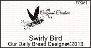 Stamps - Our Daily Bread Designs Swirly Bird Mini