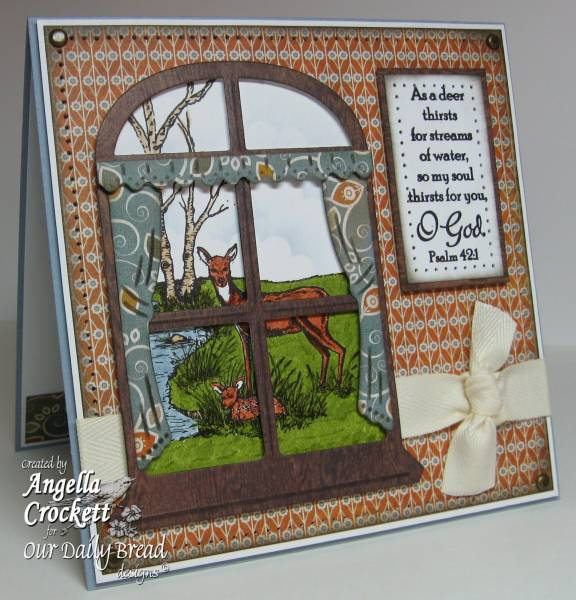 "ODBD Exclusive Spellbinders ""Windows"" Die Set, ""Quiet Waters"" Designer Angie Crockett"