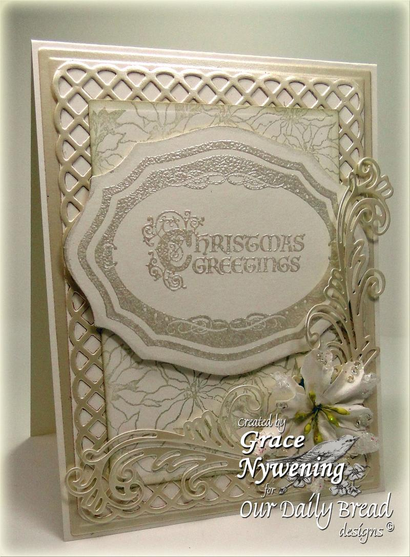 ODBD Elegant Oval Frames Christmas Flourished Verses Designer Grace Nywening
