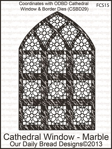 Stamps - Our Daily Bread Designs Cathedral Window - Marble