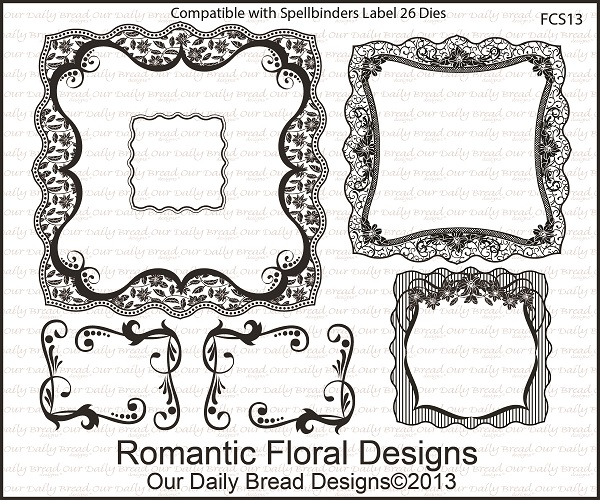 Our Daily Bread Designs April 2013 Release Romantic Floral Design