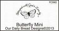 Stamps - Our Daily Bread Designs Butterfly Mini