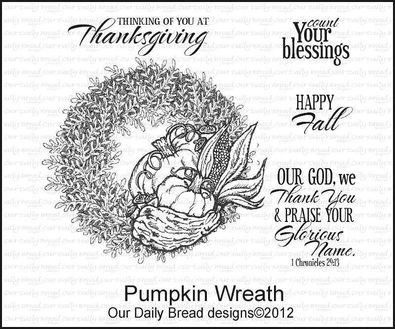 "Our Daily Bread designs ""Pumpkin Wreath"""