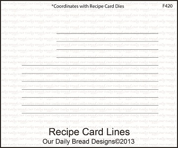 Stamps - Our Daily Bread Designs Recipe Card Lines